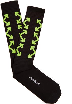 OFF-WHITE Arrows socks $46 thestylecure.com