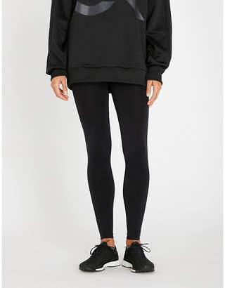 Calvin Klein Logo-waist high-waist stretch-jersey leggings
