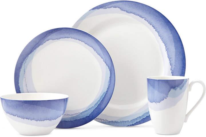 Lenox Indigo Watercolor Stripe Porcelain 4-Pc. Place Setting, A Macy's Exclusive Style