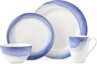 Lenox Indigo Watercolor Stripe Porcelain 4-Pc. Place Setting, Created for Macy's