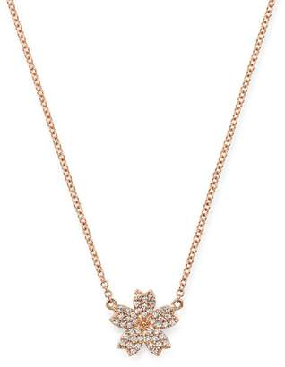 Bloomingdale's Diamond Flower Necklace in 14K Rose Gold, 0.10 ct. t.w. - 100% Exclusive