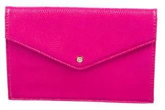 Diane von Furstenberg Embossed Leather Envelope Clutch w/ Tags