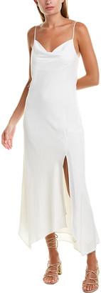 Lavender Brown Cowl Neck Maxi Dress