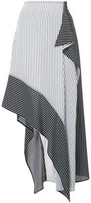 Robert Rodriguez asymmetric striped skirt