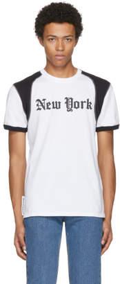 MAISON KITSUNÉ Black and White New York T-Shirt