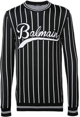 Balmain logo crewneck sweater