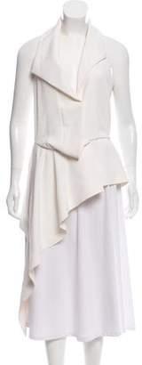 Balenciaga Asymmetrical Sleeveless Top