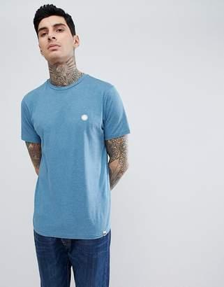 Pretty Green Mystic Marl Logo T-Shirt In Blue