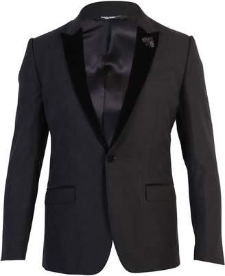 Dolce & Gabbana Black Smoking Jacket