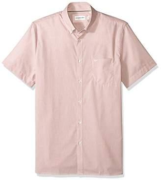 Lacoste Men's Ss End Button Down Collar Regular Fit Woven Shirt