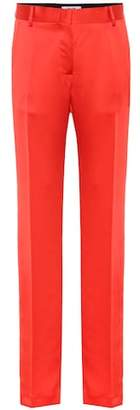 MSGM High-rise straight satin pants
