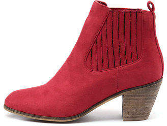 I Love Billy New Nexis Red Womens Shoes Casual Boots Ankle