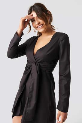 Karl Lagerfeld Paris Milena X NA-KD Knot Mini Dress Brown