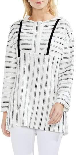 Nubby Stripe Drawstring Hoodie
