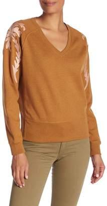 Scotch & Soda V-Neck Embroidered Sweatshirt