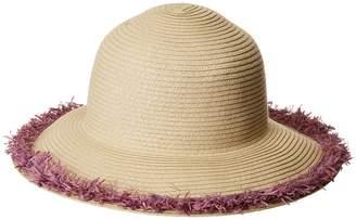 San Diego Hat Company PBM1042OS Paperbraid w/ Pop Color Frayed Raffia Caps