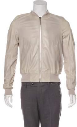 Rick Owens Leather Bomber Jacket Leather Bomber Jacket