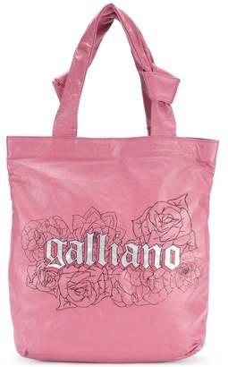 John Galliano logo print tote
