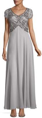 J Kara Sequined Evening Gown
