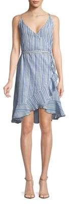 Vero Moda Striped Ruffle Wrap Dress