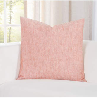 """Siscovers Pacific Apricot Linen 20"""" Designer Throw Pillow"""