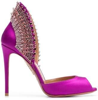 Aquazzura embellished back sandals