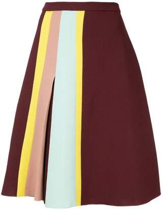 DELPOZO stripe detail skirt