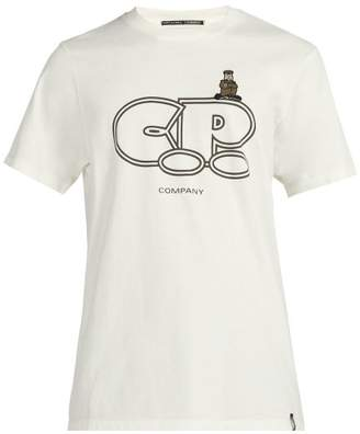 C.P. Company Crew Neck Logo Print Cotton T Shirt - Mens - White