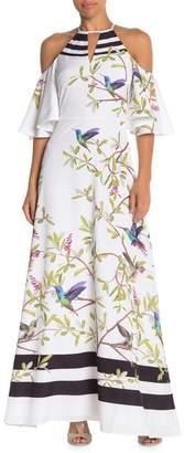 Ted Baker Highgrove Cold Shoulder Maxi Dress