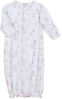 Kissy Kissy Parisian Stroll Printed Pima Convertible Gown, Size Newborn-S