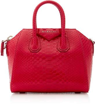 Givenchy Antigona Mini Python Shoulder Bag