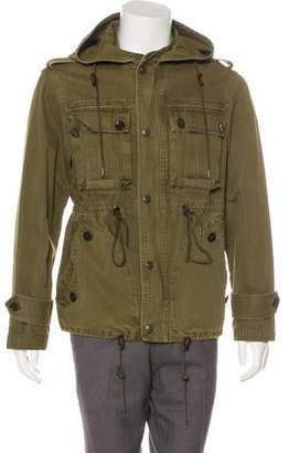Burberry Herringbone Hooded Field Jacket