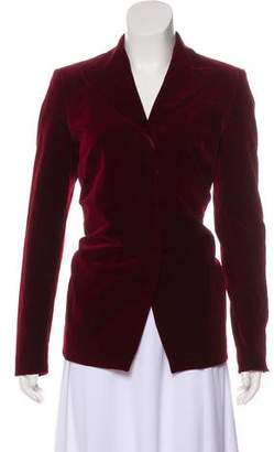 Dries Van Noten Velvet Peak-Lapel Blazer