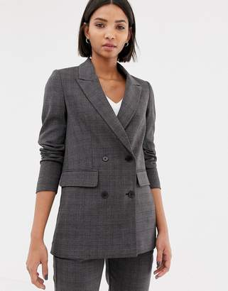 Selected Check Double Breasted Blazer