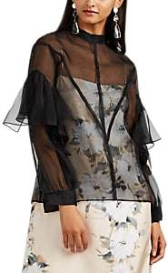 BY. Bonnie Young Women's Sheer Silk Organza Blouse - Black