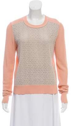 Diane von Furstenberg Long Sleeve Rib-Knit Sweater
