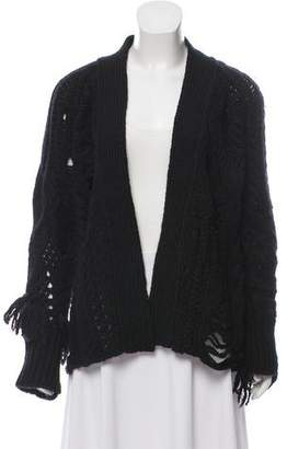 Zadig & Voltaire Wool Open Knit Cardigan