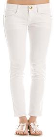 Cropped White Jean