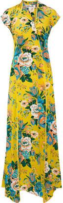 Diane von Furstenberg - Floral-print Silk Crepe De Chine Maxi Dress - Yellow $500 thestylecure.com
