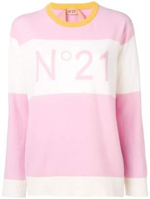 No.21 jacquard logo knit sweater