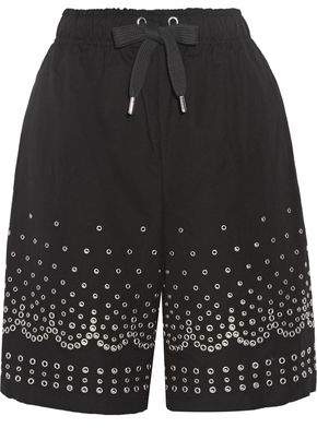 Alexander Wang Eyelet-Embellished Cotton And Linen-Blend Shorts