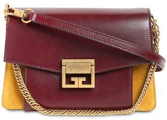 Givenchy Small Gv3 Suede & Leather Shoulder Bag