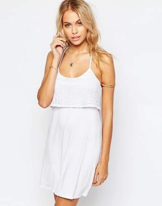 Asos DESIGN Lace Double Layer Sundress
