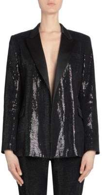 Each X Other Women's Sequin Tuxedo Jacket - Black - Size XS