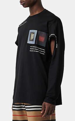 Burberry Men's Graphic Cotton Oversized T-Shirt - Black