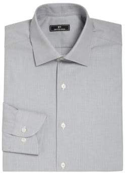 Saks Fifth Avenue 611 New York Micro Check Dress Shirt