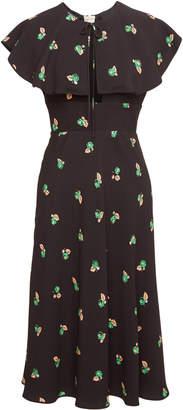 Rochas Orma Printed Ruffle Dress
