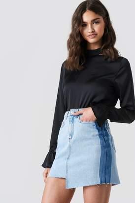 Iva Nikolina X Na Kd Asymmetric Short Denim Skirt