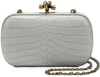 Bottega Veneta Chain Knot Crocodile Clutch Bag