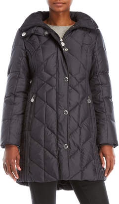 Anne Klein Faux Fur Hood Down Coat